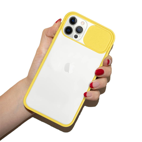 Lemon yellow camera cover iPhone case