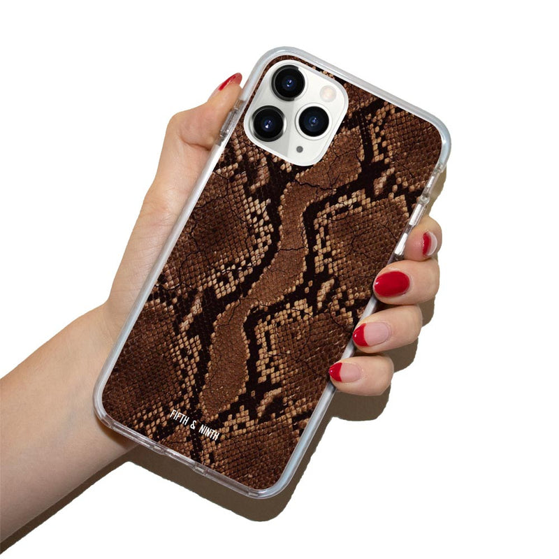 Venom Brown Snake Print iPhone 12 Pro Case