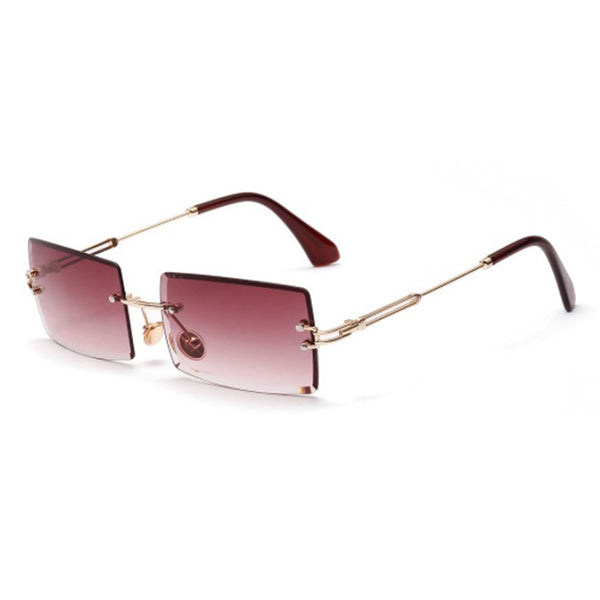 Rimless Sunglasses in berry