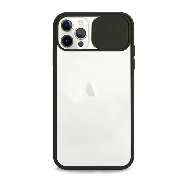 Black camera cover iPhone case