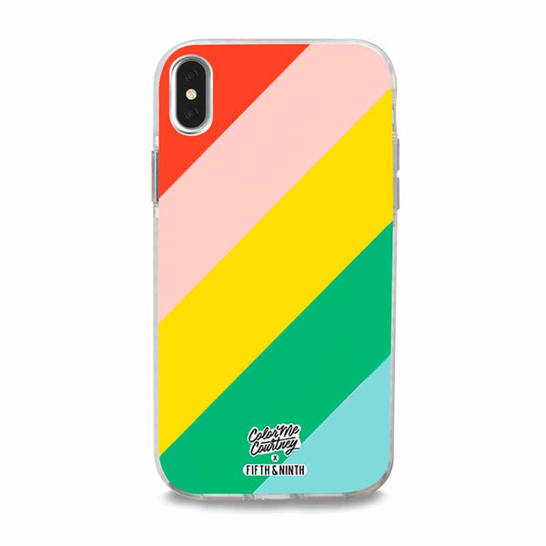 bright rainbow iphone case