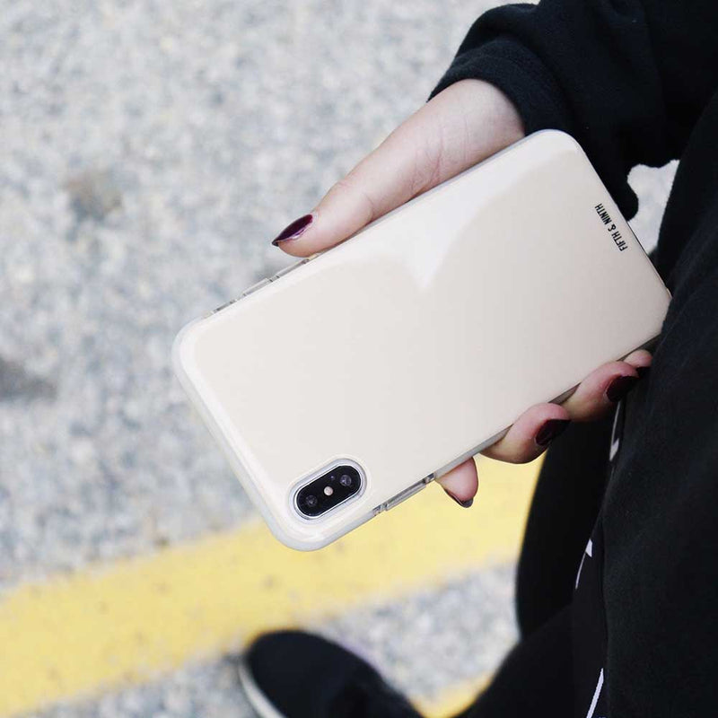 pale cream iphone case