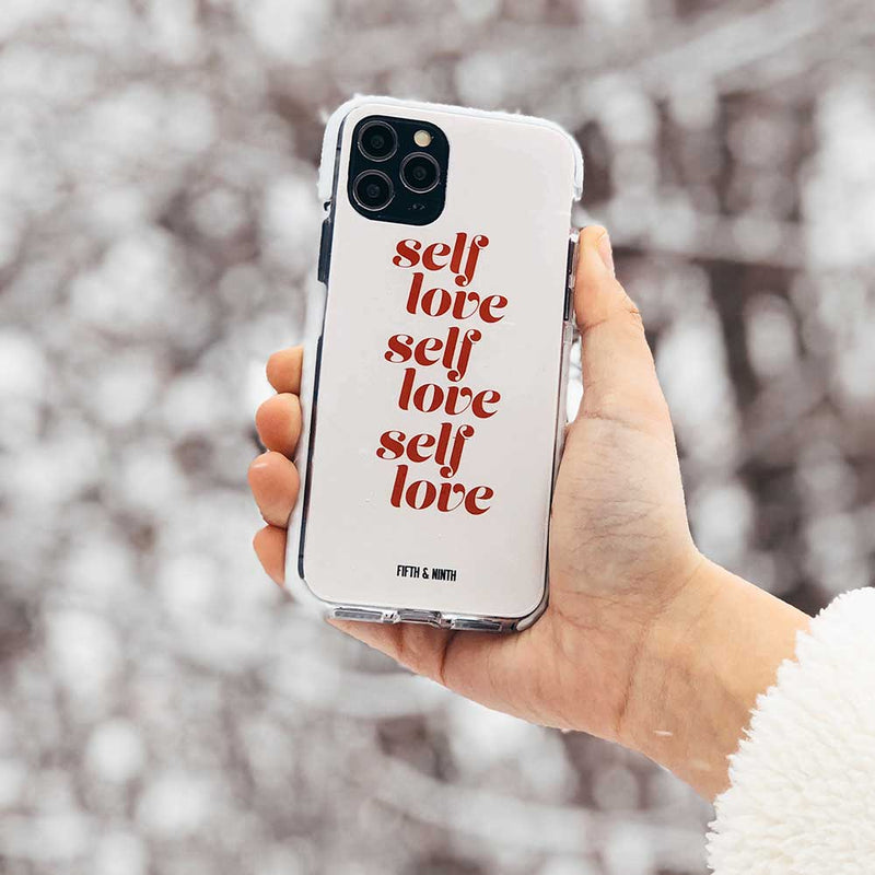 cute pink self love phone case