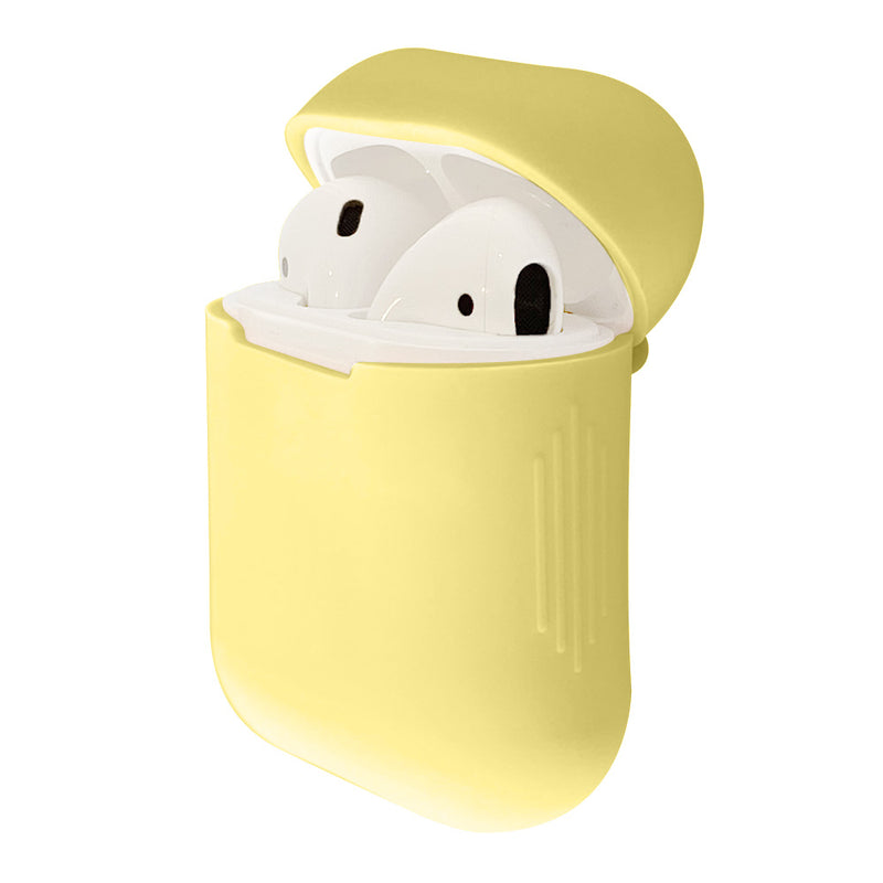 Lemon yellow silicone airpod case cover