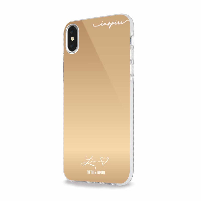 gold mirror iphone case for makeup