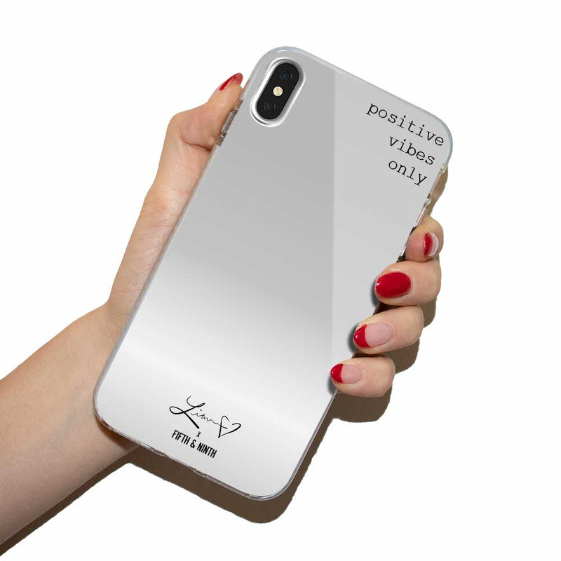 silver mirror iphone case for makeup