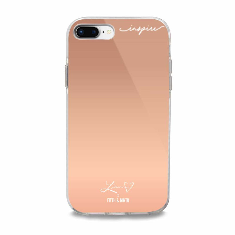 Inspiring rose gold iphone case