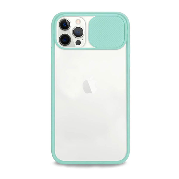 Mint green camera cover iPhone case
