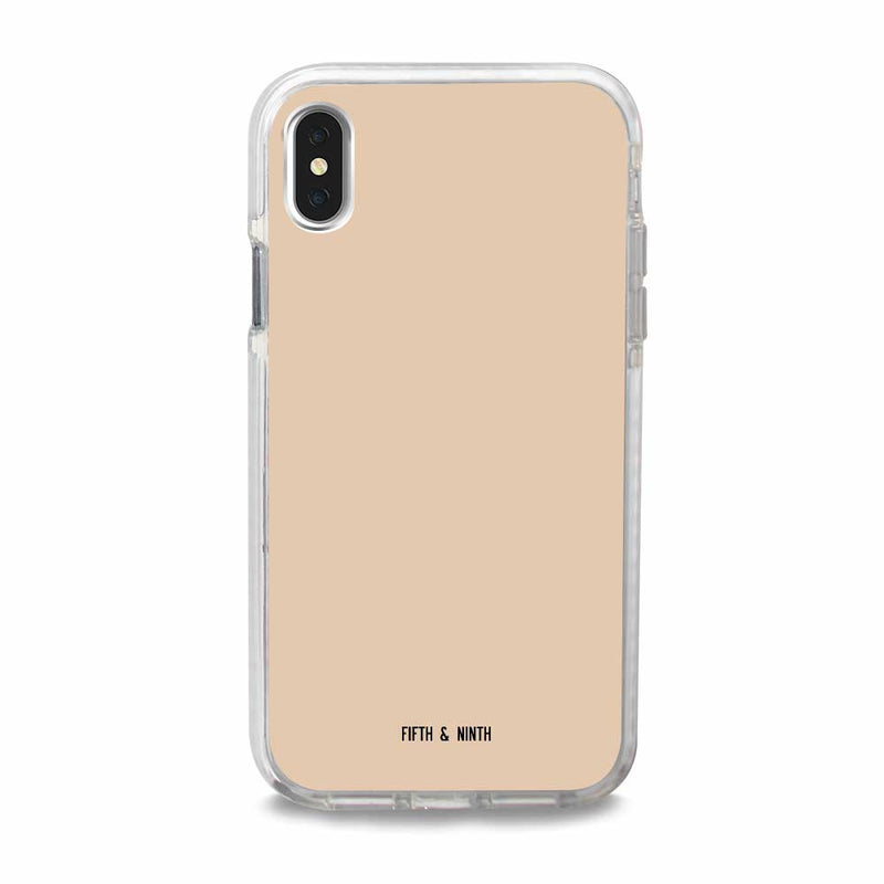 light cream iphone xs case