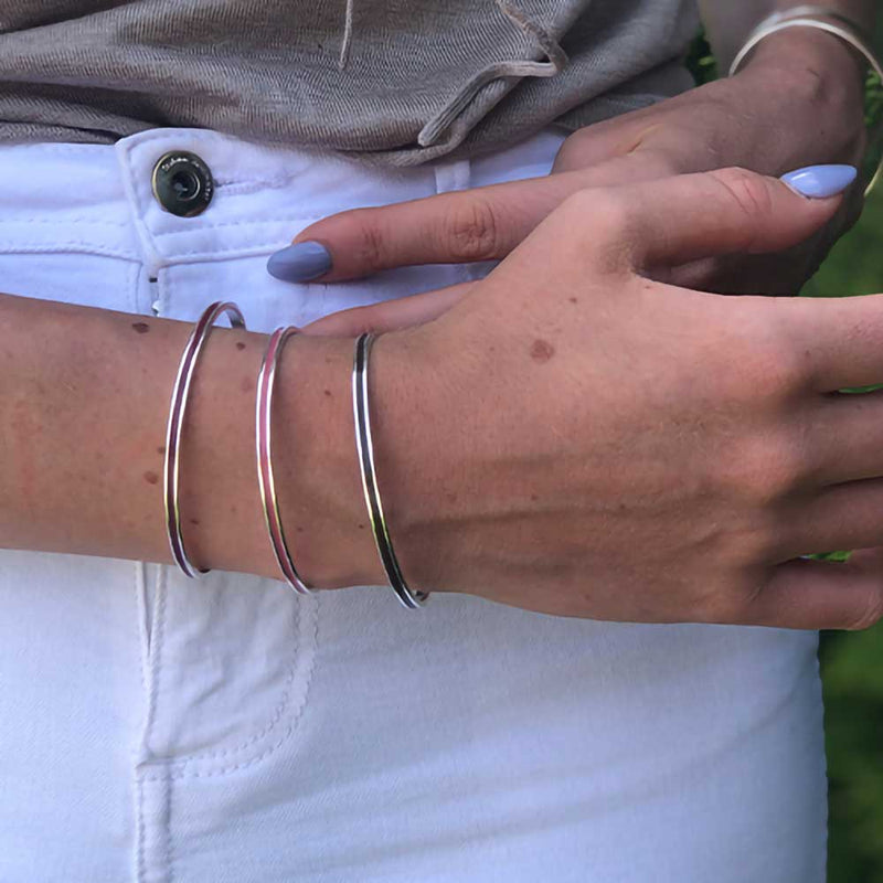 Stackable USA Made Cuff Bracelets