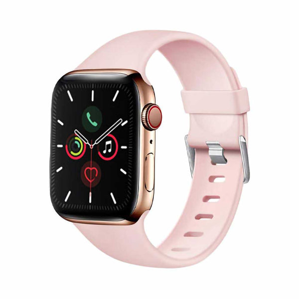 Baby pink silicone apple watch band