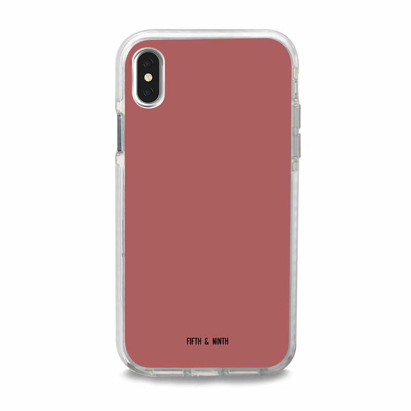 muted pink iphone xs max case