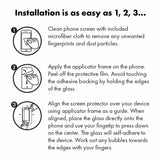 How to install your clear tempered glass screen protector