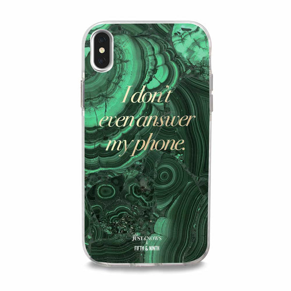 green agate iphone case