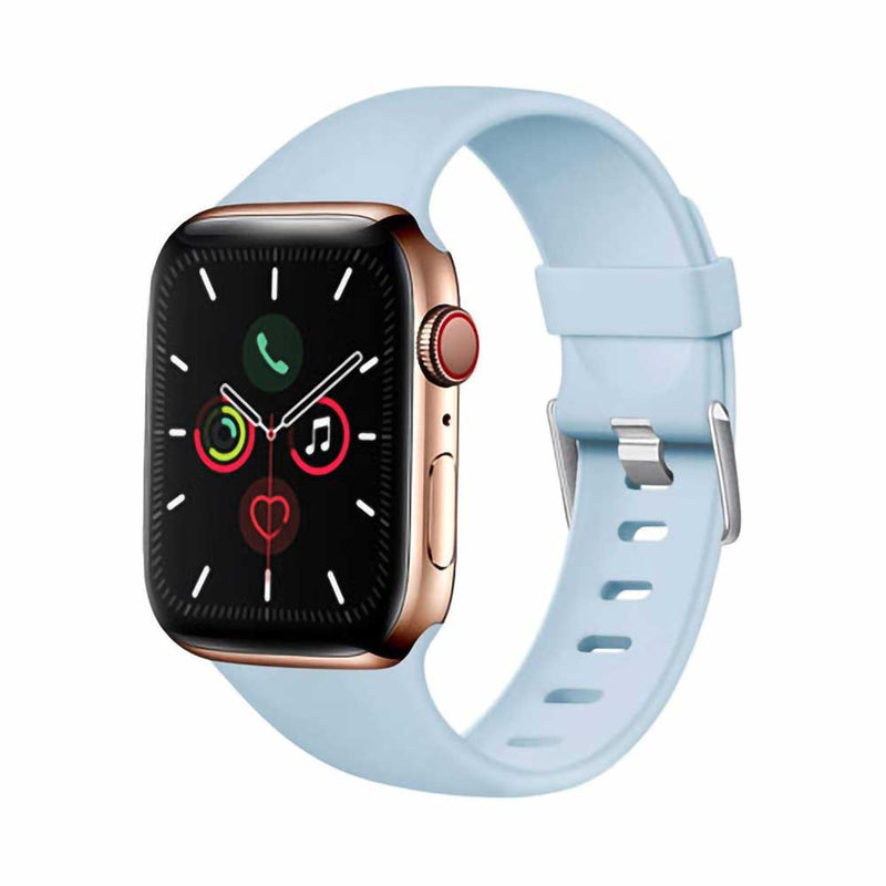 Sky blue silicone apple watch band