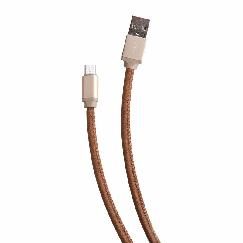 Genuine Leather Android Cable