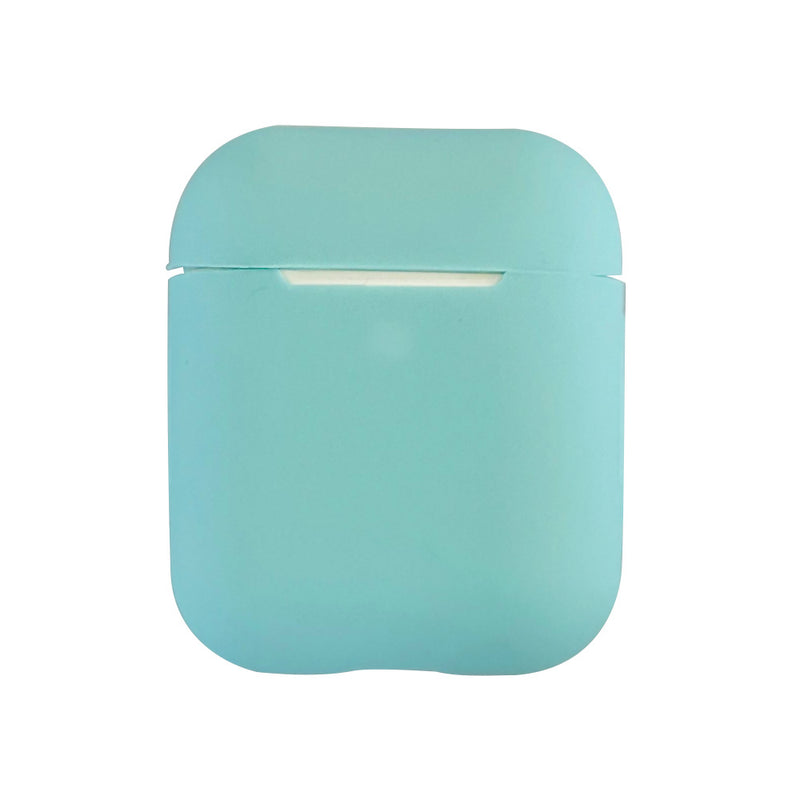 Turquoise silicone airpod case cover