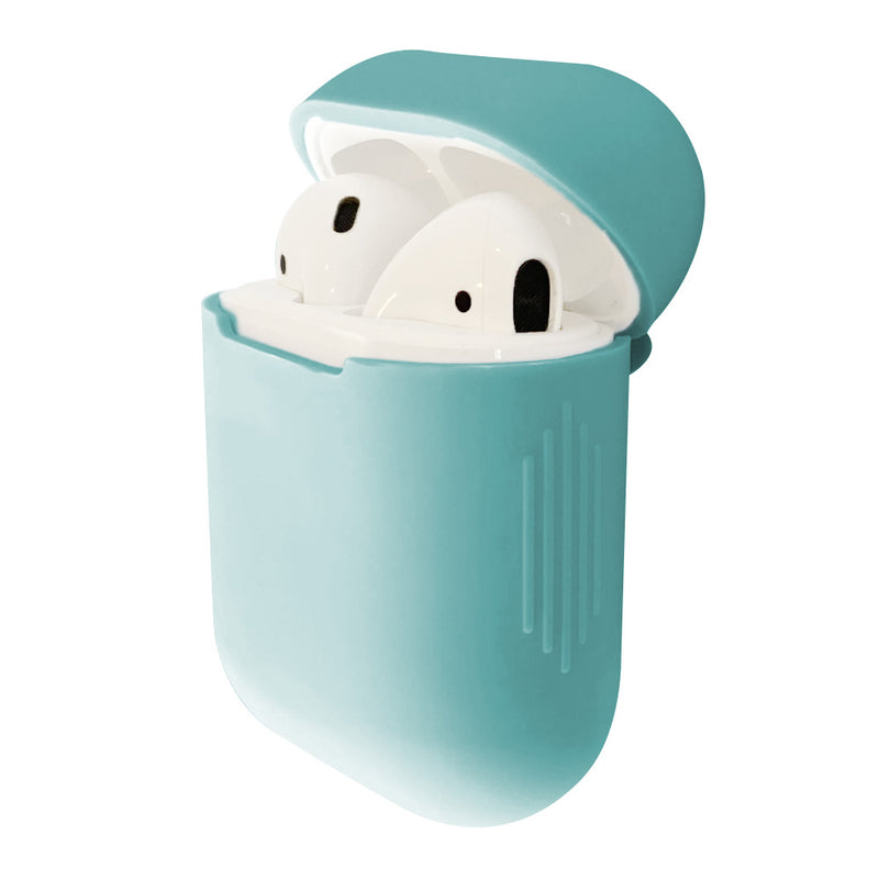 Cute teal silicone airpod case cover