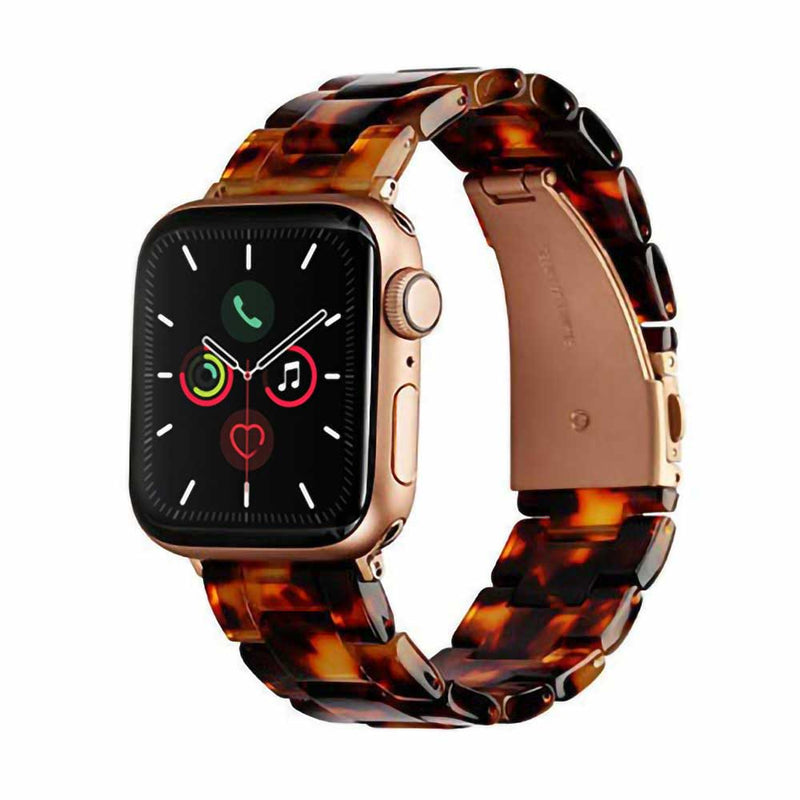 Brown tortoise resin apple watch band