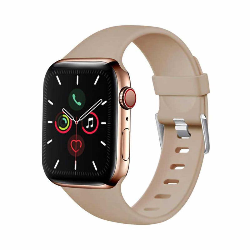 Tan silicone apple watch band