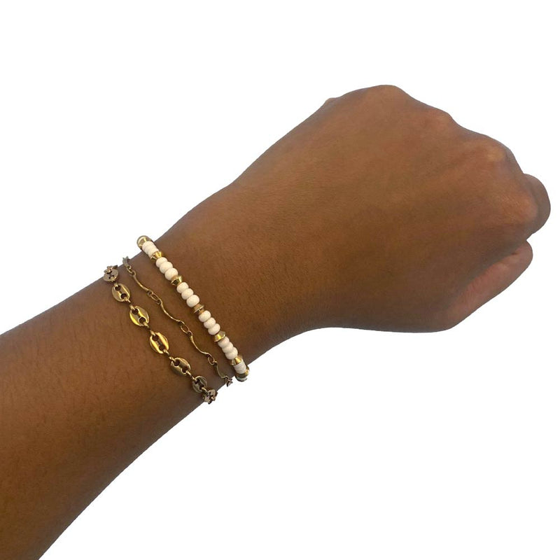 Gold stacking bracelets