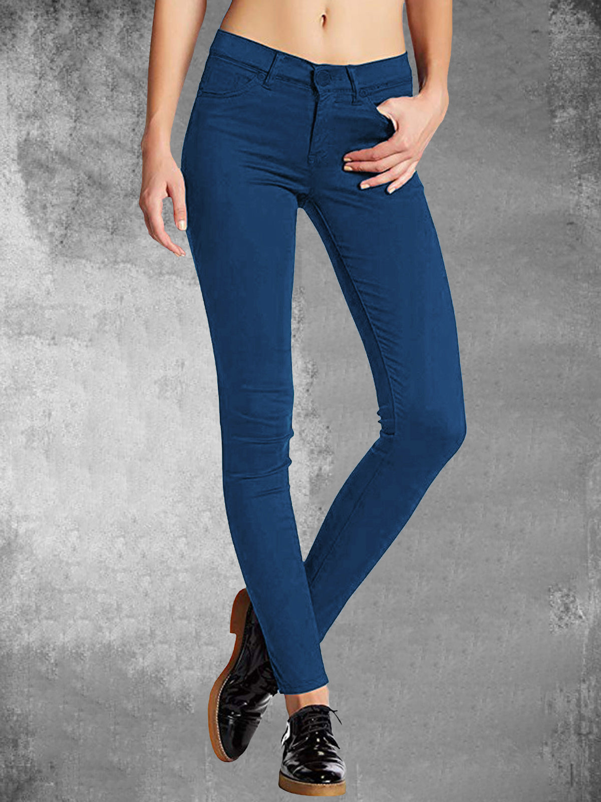Solide Pencil Mid-Rise Damenhose