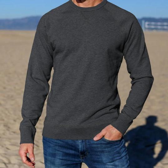 French Terry Crew Neck Sweatshirt