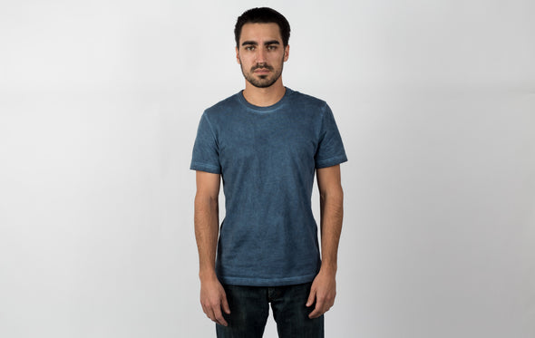 Cotton Crew Tee - Oil Wash