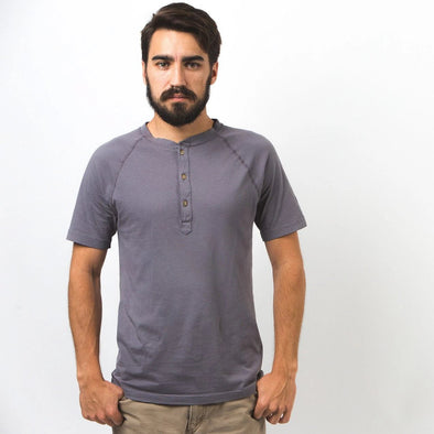 Cotton Short Sleeve Henley