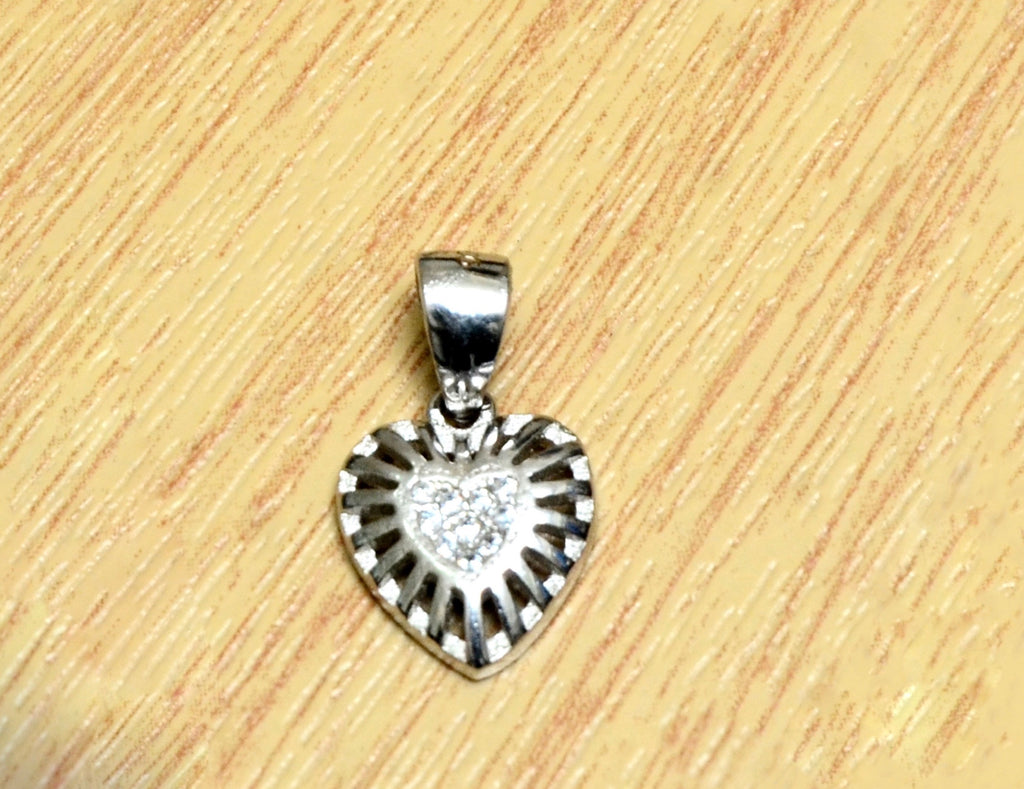 Silver Mini Heart  Pendant
