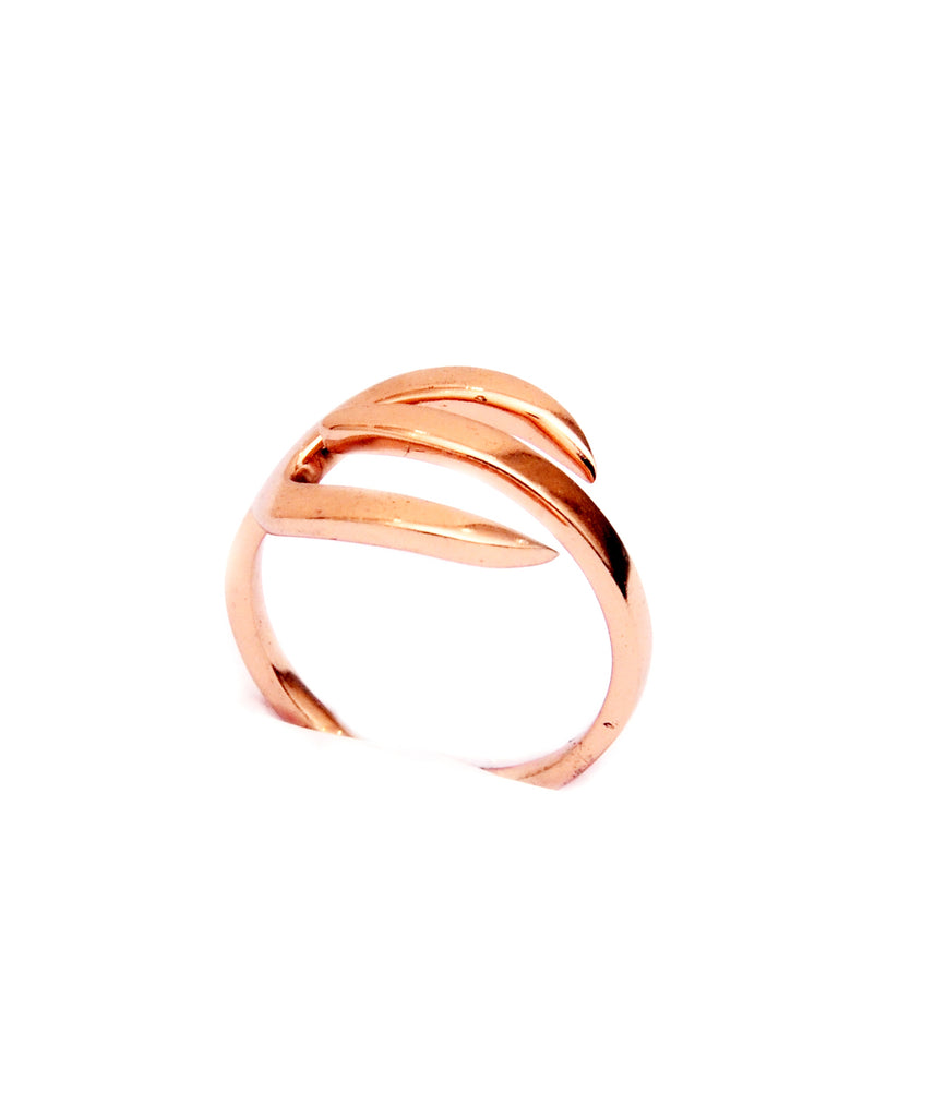 Sterling Silver Rose Gold Ring