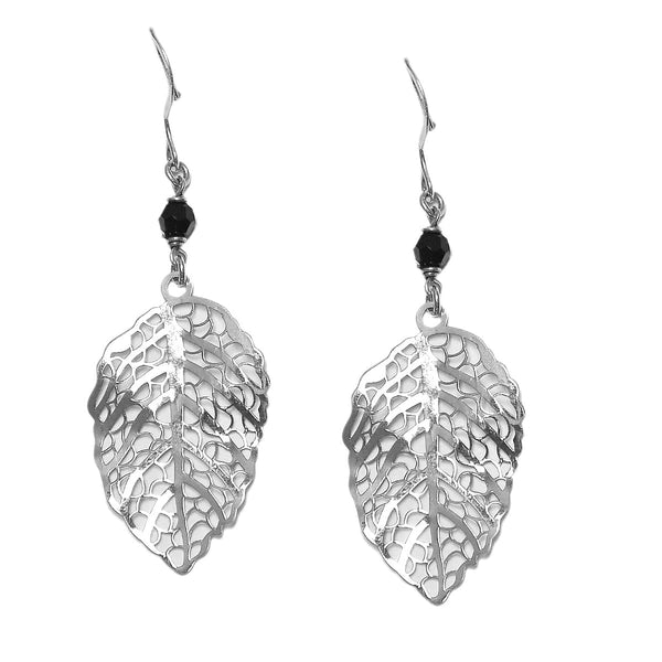 Sterling Silver Leaf shape Drop Earring