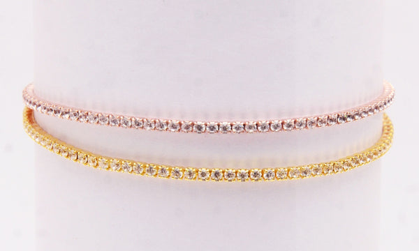 Two Colour Solitaire Adjustable Bracelet