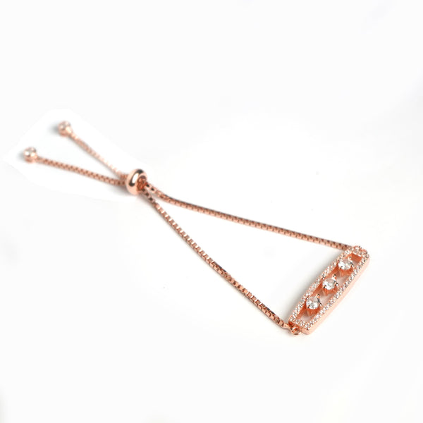 Sterling Silver Rose Gold Charm Bracelet