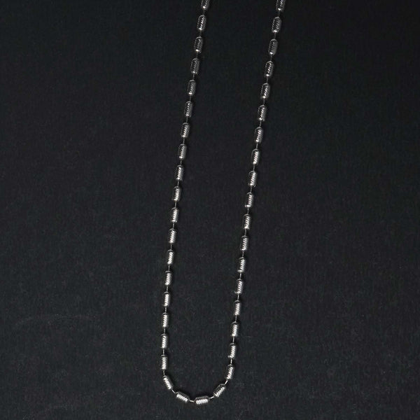 Sterling Silver Beaded Unique Chain