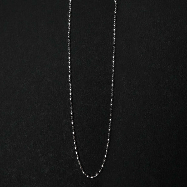 Sterling Silver Simple Beaded Chain