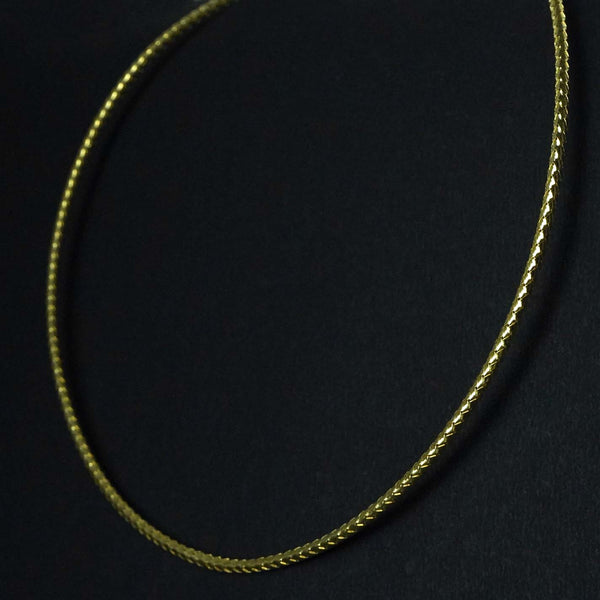 Silver Antique gold plated chain