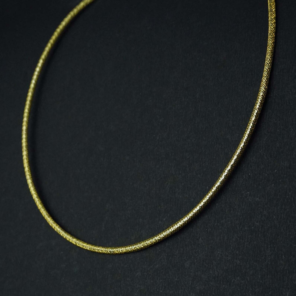 Antique Gold Plated Silver Reflective Chain