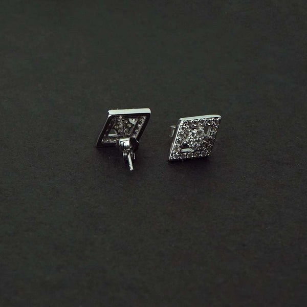 Sterling Silver Kite Shaped Studs