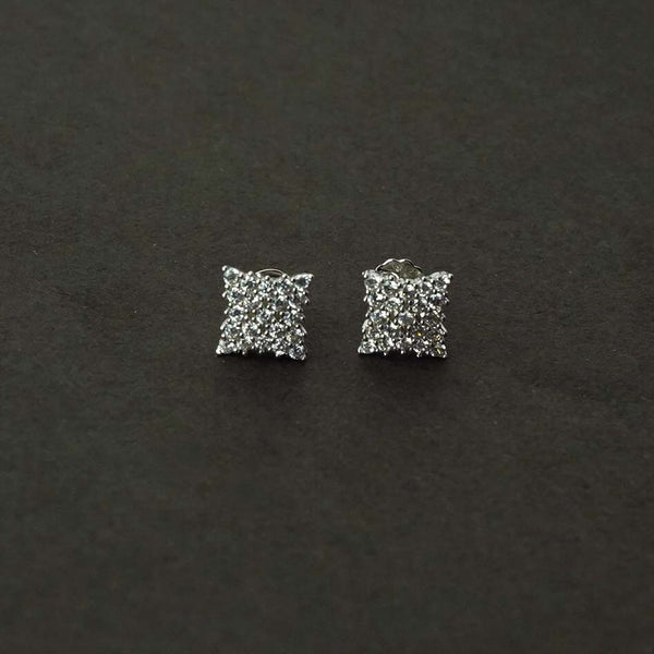 Sterling Silver Classic Square Studs