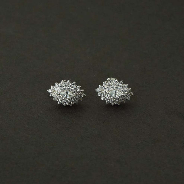 Sterling Silver Oval shape Studs