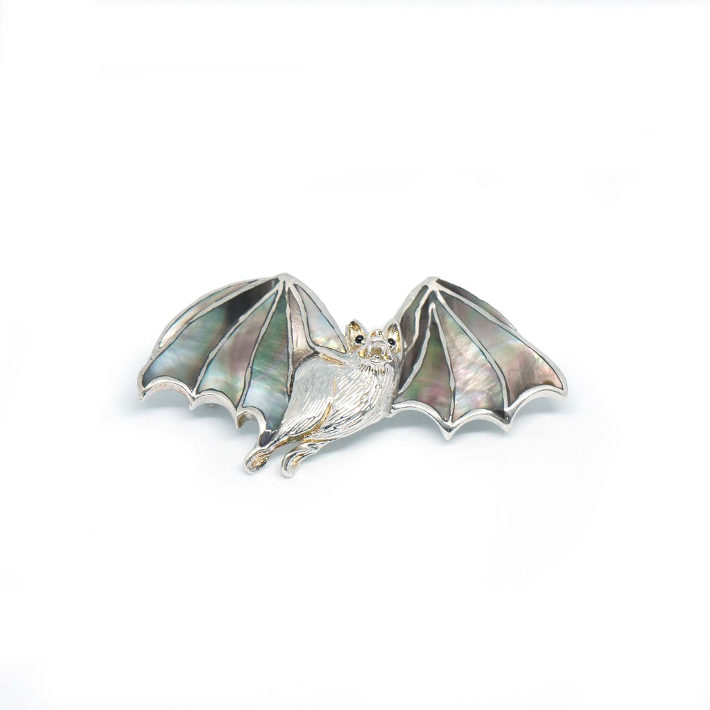 Sterling Silver Bat Brooch