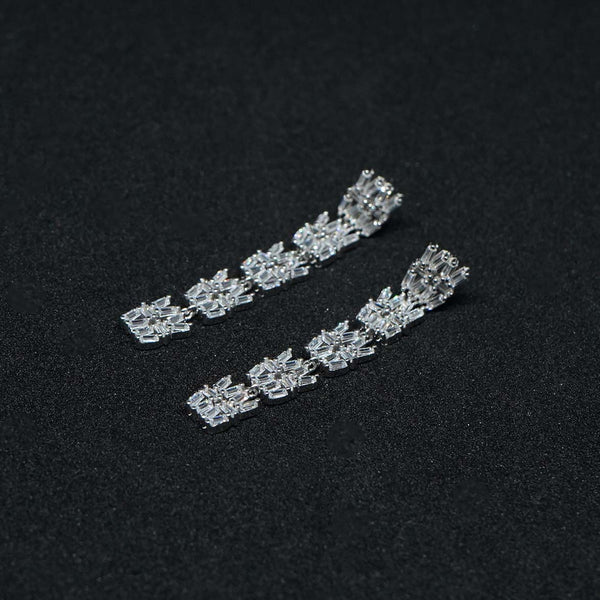 Sterling Silver CZ Hanging earring