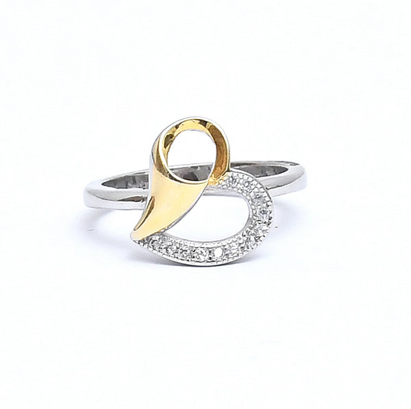 Sterling Silver Heart Shaped Ring