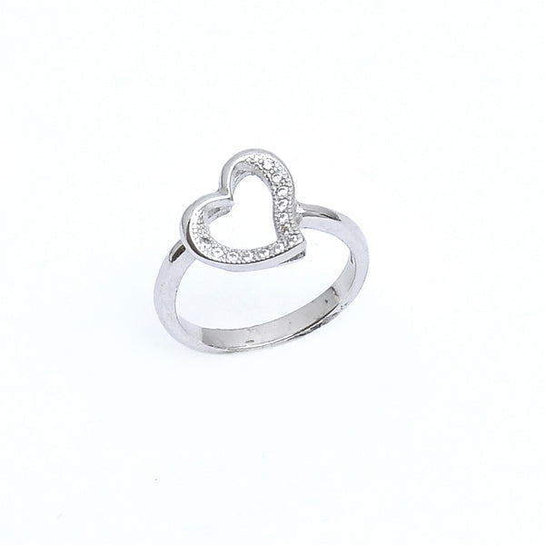 Sterling Silver  Heart CZ Silver ring
