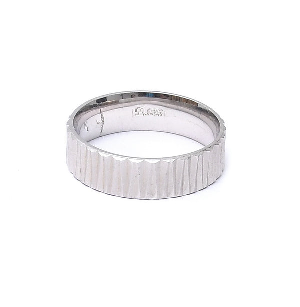 Sterling Silver Leger Unisex Band