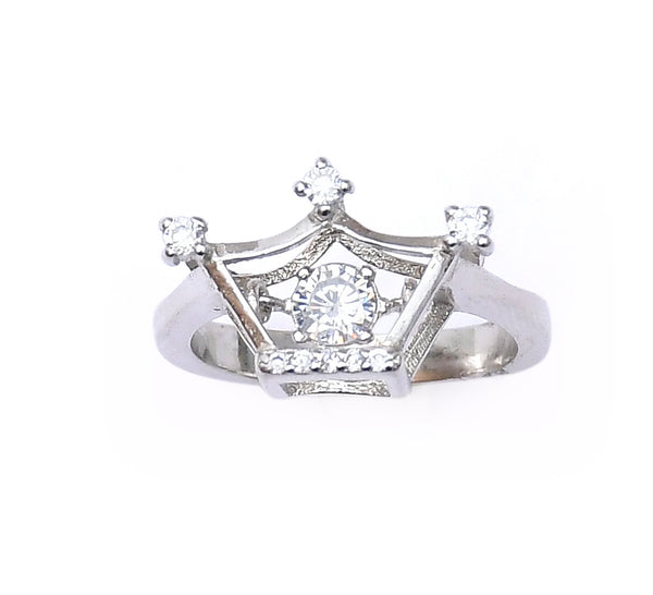 Sterling Silver Dancing King Ring