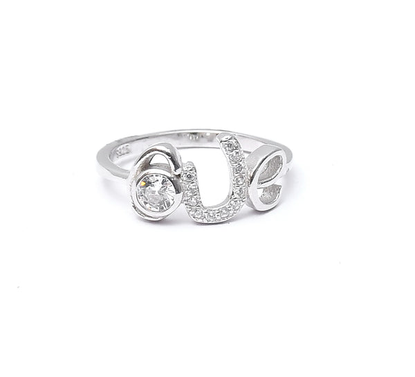 Sterling Silver Heart Love Ring