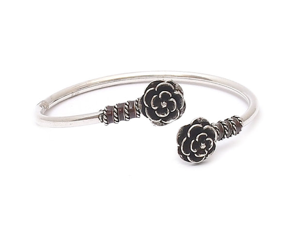 Sterling Silver Rose Thai Bracelet