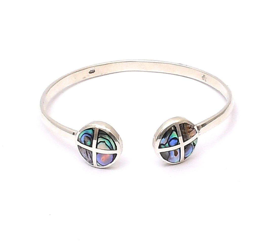 Sterling Silver Multi-color MOP  Bangle